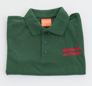 GAELSCOIL-AN-CHUILINN-POLO-SHIRT-BOTTLE-GREEN