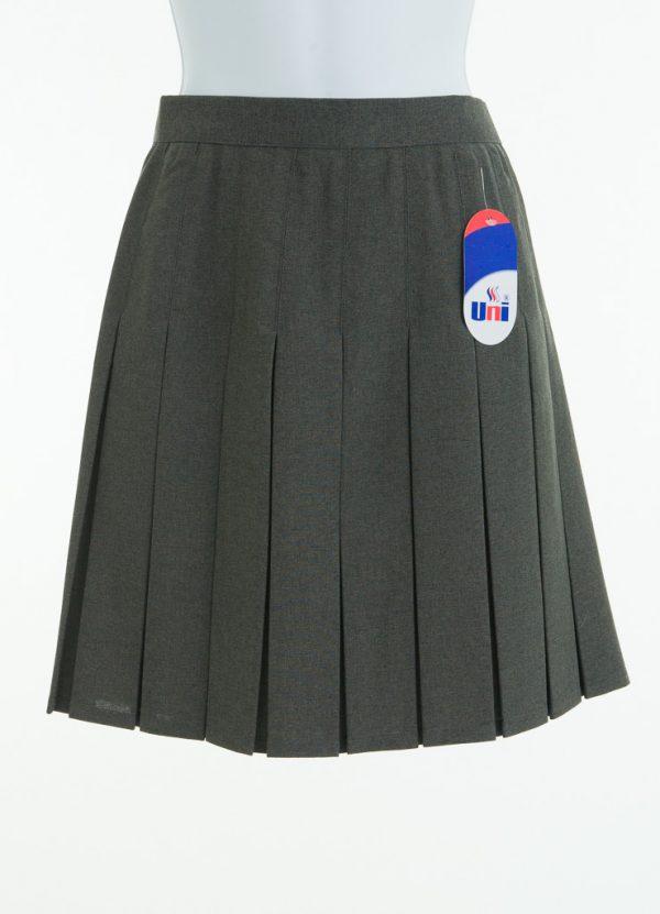 Skirt Grey Box Pleat Zip