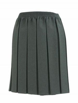 Skirts-Elastic-Waist-Grey