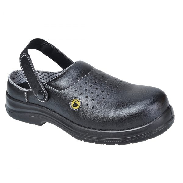 FC03-Portwest-Compositelite-ESD-Perforated-Safety-Clog-SB-AE